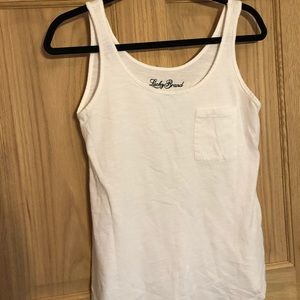 The lucky brand white tank top